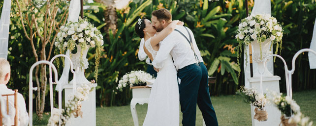 Garden Wedding in Bali